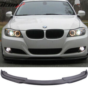 Fits 09 11 Bmw E90 Lci 3 Series Sedan 4 Door H Style Front Bumper Lip Pu