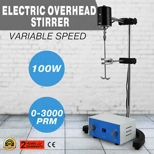 Electric Overhead Stirrer Mixer Variable Speed 100w New Analysis Room 60hz