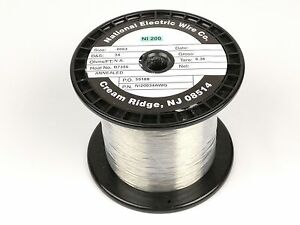 Pure Nickel Wire 34 Gauge 2 2 Lb 18 400 Ft Non Resistance Awg Ni200 Nickel 200