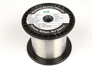 Pure Nickel Wire 34 Gauge 1 62 Lb 13 549 Ft Non Resistance Awg Ni200 Nickel 200
