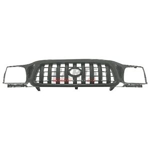 New Grille Black Finish Fits 2001 2004 Toyota Tacoma 5310004250c0