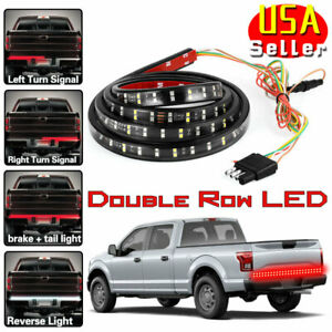 60 Inch 2 Row Led Truck Tailgate Light Bar Strip Red White Reverse Stop Signal