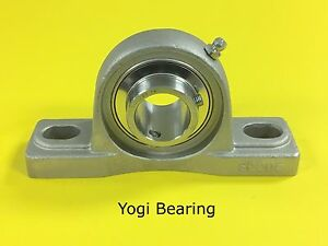 1 Stainless Steel Pillow Block Bearing Sucsp205 16 Solid Base