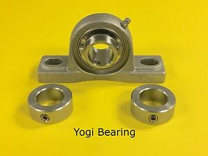 Sucsp205 16 1 Stainless Steel Pillow Block Bearing W 2 Stainless Solid Collars