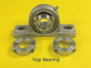 Sucsp205 16 1 Stainless Steel Pillow Block Bearing W 2 Ss Double Split Collars