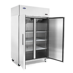 Double Two 2 door Stainless Steel Refrigerator Commercial Store Nsf Food Cooler