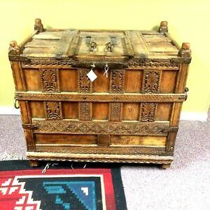 Antique Circa 1700s Indian Dowry Chest