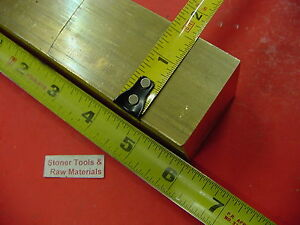 1 5 8 X 1 5 8 C360 Brass Square Bar 6 Long Solid 1 625 Flat Mill Stock H02