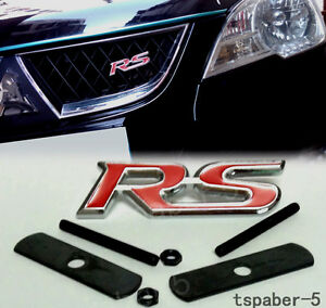 Red Rs Grill Badge Racing Spor Front Emblemt Grille Logo