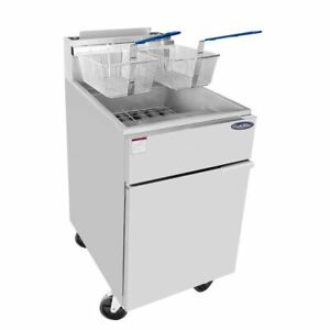 Brand New Atosa 75 Lb Pound Heavy Duty Large Commercial Deep Fryer Propane Lp