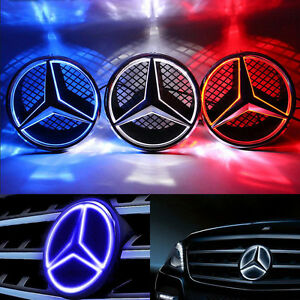 Motors Front Grille Star Emblem Fits Mercedes Benz Illuminated Led Light 06 13