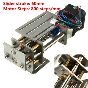 Ball Screw Linear Cnc Slide Stroke 50 60mm Long Stage Actuator Stepper Motor