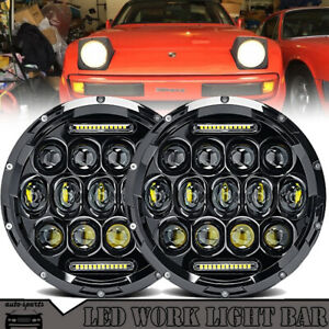 7 Inch Led Headlamp Headlights Upgrade Light Kit For Porsche 944 914