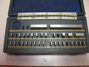 Vintage Gage Block Set Geo Scherr Co 34 Pc ultra Chex Inspectoset Used