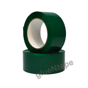 Green Color Carton Sealing Packing Tape 2 X 330 48 Mm X 110 Yards 12 Rolls