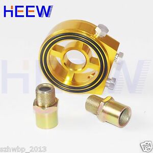 Aluminum Universal Oil Filter Sandwich Plate Cooler Adapter Kit Turbo Glod