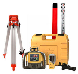Topcon Rl h5a Self leveling Rotary Grade Laser Level W Dome Tripod And 14 Rod