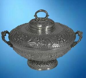 A Tiffany Aesthetic Persian Inspired Sterling Silver Soup Tureen