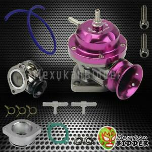 Universal Adjustable Type Rs Turbo Bov Blow Off Valve 2 5 Flange Mount Purple