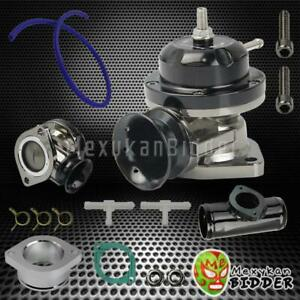 Universal Adjustable Type Rs Turbo Blow Off Valve 2 5 Bov Flange Pipe Black