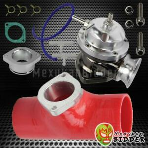 Universal Polished Turbo Type Rs Blow Off Valve Red 2 5 Bov Flange Silicone