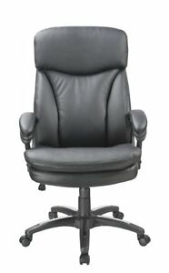 Office Factor New Black Executive Managers Office Chair High Back Swivel Adju