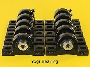 10pcs 1 2 Pillow Block Bearing Ucp201 8 Solid Base Gloss Black Paint