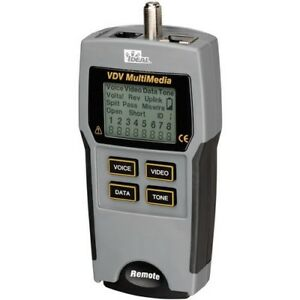 Ideal r 33 856 Vdv Multimedia Cable Tester