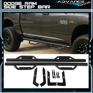 For 09 18 Dodge Ram 1500 Quad Cab Side Step Bar Running Boards Nerf Bar Black