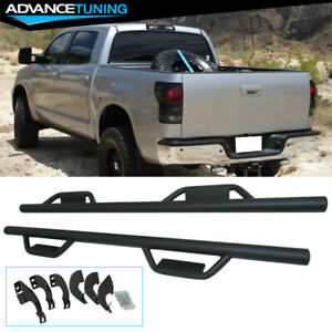 For 07 18 Toyota Tundra Crewmax Cab Side Step Bar Running Boards Nerf Bar Black