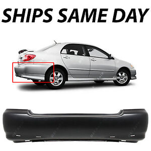 New Primered Rear Bumper Cover For 2003 2008 Toyota Corolla Sedan S Model 03 08