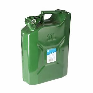 Jerry Can 10ltr Strong Metal Durable Mechanic Garage Emergency Military Camping
