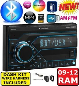 2009 2012 Dodge Ram Bluetooth Bluetooth Aux Usb Double Din Radio Stereo Dash Kit