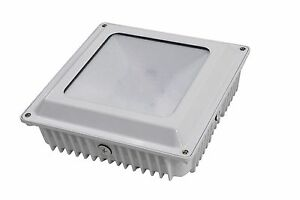 Led Canopy Light Gas Station Parking Garage Surface Fixture 5000k White Drop