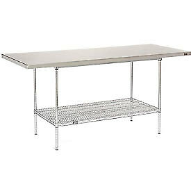 72 w X 30 d Stainless Steel Top Wire Work Table