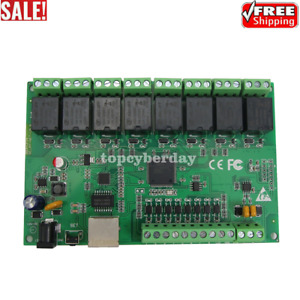 8ch Relay Cnc Lan Network Ip Relay Web Relay Dual Control Ethernet Rj45 In Usa