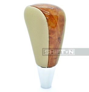Tan Beige Wood Gear Shift Knob For Toyota Solara Sienna Avalon Lexus Gs Sc At16