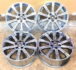 18 18 Inch Oem Spec Cadillac Ats Wheels Rims Set 4 Chrome 4705 18x8 5x115