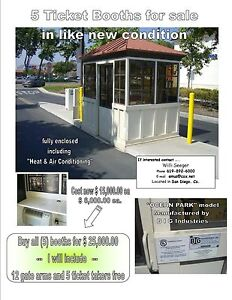 Parking Lot Ticket Booths And Gate Arms