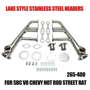 Lake Style Headers For Sbc 265 400 V 8 chevy hot Rod street rat