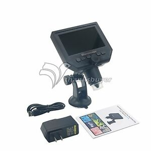 Digital Microscope 4 3 Hd Oled 3 6mp 1 600x Magnification G600 Portable Lcd Us