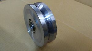 6 X 2 Cold Rolled Steel Chromed V grooved Wheel 6 000 Lbs ea capacity