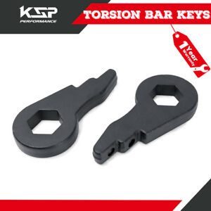 Chevy Front Torsion Bar Key Forged Leveling Lift Kit 1 3 01 10 1500hd 2500 Hd