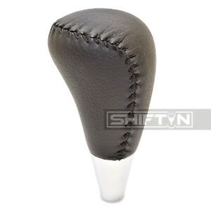 Black Leather Gear Shift Knob For Toyota 4runner Tacoma Lexus Es300 Sc Gs Ablt