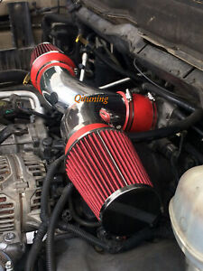 Red Dual Twin Air Intake Filter For 2002 2007 Dodge Ram 1500 4 7l V8