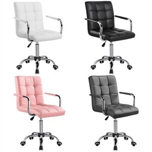 Modern Leather Office Chair Gas Lift Swivel Executive Computer Desk Task Chairs