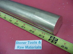 2 1 2 C360 Brass Round Rod 24 Long Solid 2 50 Od X 1 Foot H02 Lathe Bar Stock