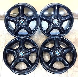 17 17 Inch Black Powdercoat Bmw X5 17 Oem Factory Wheels Rims 4 set 59331