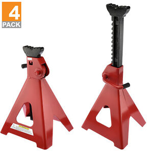 12 Ton Jack Stand 4 X Ratcheting Pair Heavy Duty Lift Lock Capacity Car Truck