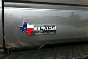 Xl Texas Edition Emblem Badge For Ford 150 250 350 Tailgate Universal Stick On
